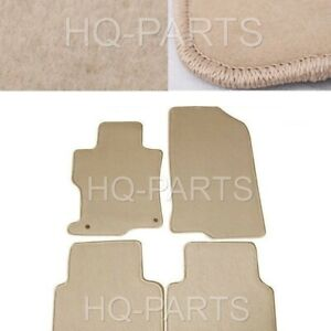New 4 Pieces Beige Nylon Carpet Floor Mats Fit For 08 12 Honda Accord