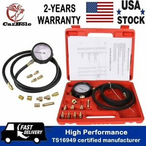 Auto Engine Oil Pressure Test Kit Tester Low Oil Warning Devices Gauge 0 500 Psi