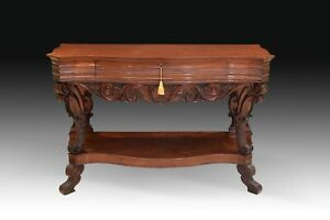 Mahogany Console Table With Drawer England 19th Century