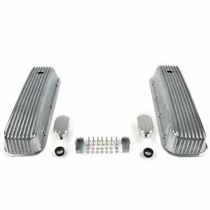 Vintage Finned Valve Covers W Breathers no Pcv big Block Chevy Vpa7ac09 Truck