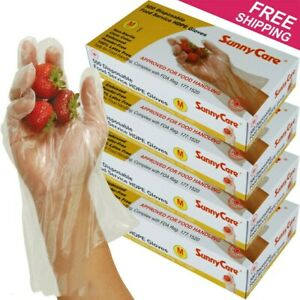 2000pcs Poly Hdpe Food Handling Service Disposable Gloves Latex Free Size medium