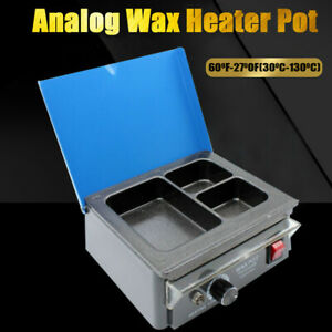 Dental Lab Electric 3 well Analog Heater Melting Dipping Pot Paraffin Machine