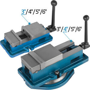 3 6 Bench Clamp Lock Vise With without Swivel Base Hardened Metal Cnc Secure
