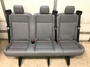15 18 Ford Transit Van Oem Pewter Gray Vinyl 3 Pass 61 Solid Rear Bench Seat