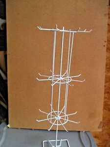 4x Metal Wire Store Display Jewelry Rack Rotating Tabletop Quick Assembly