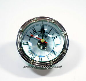Antique Vintage Maritime Brass Paper Weight Table Ball Clock 5 Nautical Decore