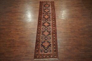 Antique 3x14 Persian Sarab Runner Hand Knotted Wool Rug Carpet 3 6 X 13 11