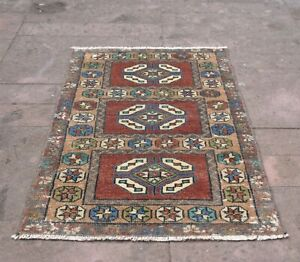Vintage Rug Handmade Rug Turkish Small Kilim Rug 1 71x3 12 Ft Welcome Mat