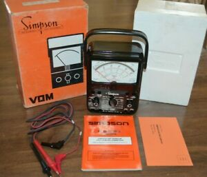 Simpson Model 260 8p Series 7 Volt Ohm Test Meter Multimeter Milliammeter