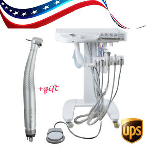 Usa 4 hole Dental Delivery Mobile Cart Unit Equipment Machine Free Handpiece