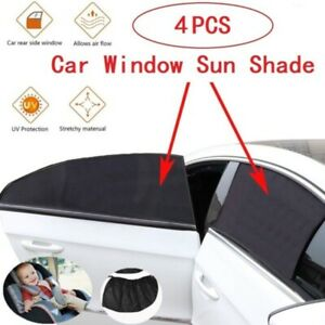 4x Side Front Rear Seat Window Mesh Sun Shade Car Window Uv Protection Covers