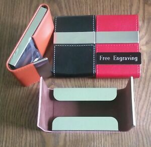 Free Engraving personalized Business Card Case Holder Credit Card Wallet
