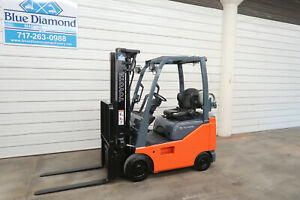 2015 Toyota 8fgcu15 3 000 Cushion Tire Forklift Lpg Fuel 3 Stage Sideshift