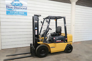 2004 Cat Gp25k 5 000 Pneumatic Tire Forklift Gas Engine Two Stage Sideshift