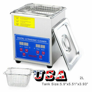 New Stainless Steel Industry Ultrasonic Cleaner 3l Heated Heater W timer Us Ship