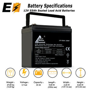 12v 55ah Rechargeable Sla Agm Battery For Wind Solar And Off Grid Power