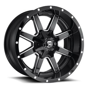 Set Of 4 Fuel Wheels D610 Maverick 22x10 8x180 10 Gloss Black Milled