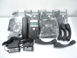 Lot Of 6 New Polycom 2201 12375 001 Ip335 Ip 335 Voip Sip With Power Supply
