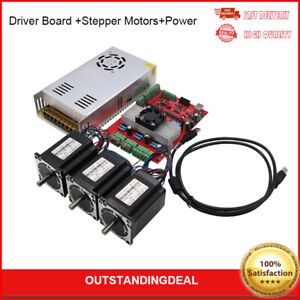 Mach3 Usb 3 axis Cnc Kit Tb6560 Driver Board nema23 Stepper Motors power
