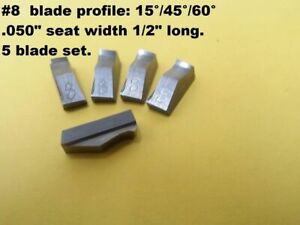 3 Angle Valve Seat Cutter Blades 8 New Profile 15 45 60 X 050 Seat 5 Pack