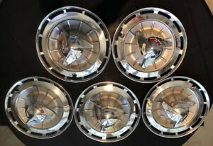1962 Chevrolet Impala Ss Rare Spinner Wheel Covers And Dog Dish Wheel Covers
