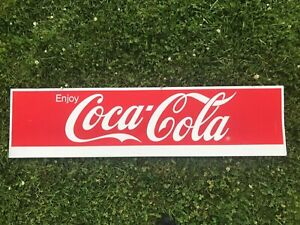 "48"" X 12"" ""Enjoy Coca-Cola"" Vintage Metal Advertising Sign"