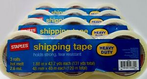 Staples Clear Shipping Tape Heavy Duty 2 6 Mil Holds Strong 1 88 X 43 7 Yards