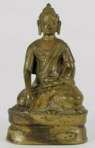 Nepal Tibet Himalayan Bronze Statue Of The Meditating Buddha Ca 19 20th Century