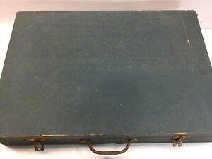Vintage 1924 Wardrobe Steamer Trunk Travel Inside Case Good Cond