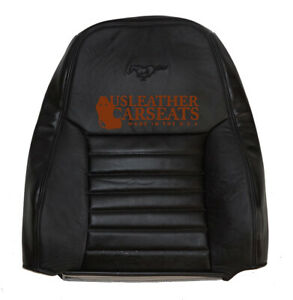1999 2000 Ford Mustang Gt Convertible Driver Lean Back Leather Seat Cover Black
