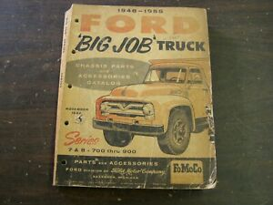 Original Ford 1948 1955 Big Truck Master Parts Book Chassis 1949 1950 1951 1952