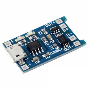 5pcs Tp4056 5v 1a Micro Usb 18650 Lithium Battery Charging And Protection Board