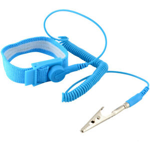 Anti static Wrist Band Esd Grounding Strap Prevents Static Build Up Blue