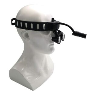 5w Dental Medical Headband Wireless Led Head Light With 3 5x Binocular Loupes