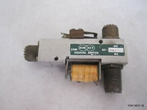 One 24v Dc Dow key Coaxial Relay Switch pn 60 232542