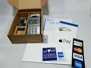 Brand New Verifone Vx520 Emv Contactless Machine W Payment Acceptance Stickers