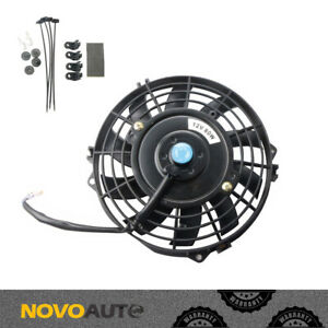 7 Inch Universal Electric Radiator Slim Fan Push Pull 12v W Mount Kit 10 Blades