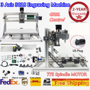 3 Axis Cnc 3018 Diy Mill Wood Router Kit 3d Engraver Pcb Mill Machine Er11 Sale