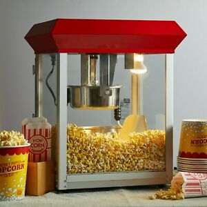 Commercial Popcorn Maker Machine 8 Oz Popper Concession Kettle Snacks Quick Pop
