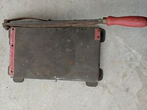 Vintage Chandler Photographic Paper Trimmer Cutter All Steel Photography Office