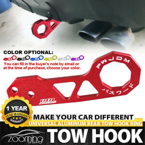 Universal Red Jdm Style Aluminum Alloy Racing Car Rear Tow Hook For All Cars