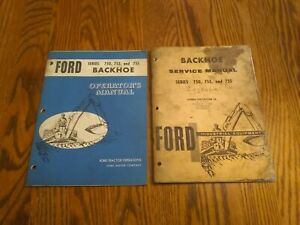 Oem Ford Industrial Backhoe Service And Operating Manuals Series 750 753 755