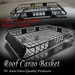 Suv Car Roof Basket Luggage Cargo Carrier Holder Rack extend Storage Fit Civic