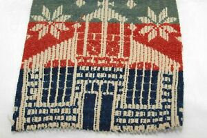 Red Blue Green Coverlet House Charm Piece