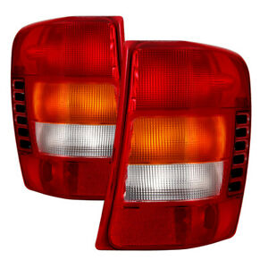 Fit Jeep 99 04 Grand Cherokee Replacement Tail Brake Lights Pair Set