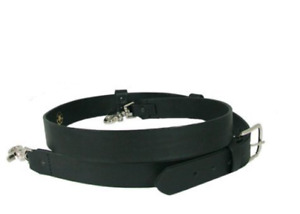 6545 1 Boston Leather Firefighters Radio Strap Wide