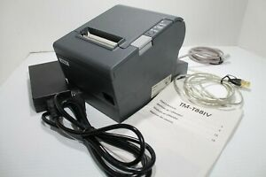 Epson Tm t88iv Point Of Sale Thermal Receipt Printer M129h With Cables