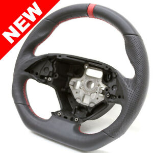 Handkraftd 2014 Corvette C7 D Shaped Steering Wheel Black W Red Stitch