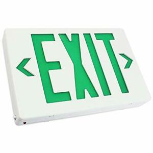 Ac 120v 277v Single double Face Led Exit Sign Green Letter Ul classified Light