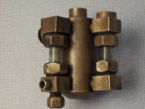 Detroit Lubricator 1 3 Pint Oil Injector Brass Steam Hit And Miss